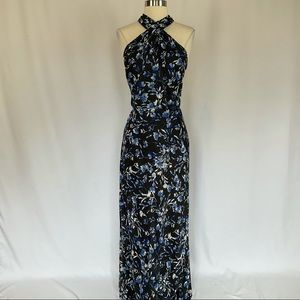 Ralph Lauren Floral Chiffon Halter Long Maxi Dress